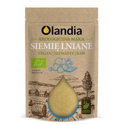 EKO Siemię lniane mielone odtłuszczone 400 g (mąka) OLANDIA