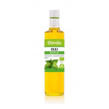 Ekologiczny Olej Słonecznikowy z Bazylią