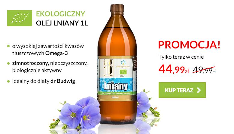 Ekologiczny olej lniany 1l